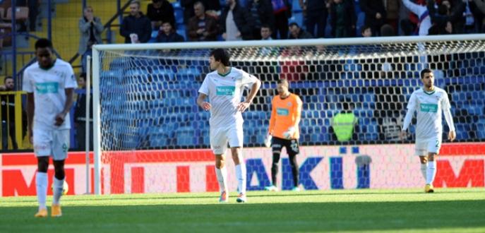 Bursasporlu futbolcuların son dakika üzüntüsü