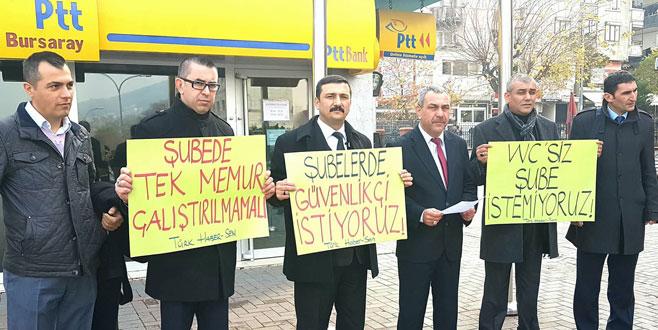 Bursa'da PTT çalışanları endişeli