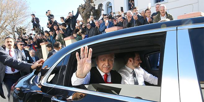 Gümülcine'de Erdoğan çoşkusu! Karşılamaya koştular...