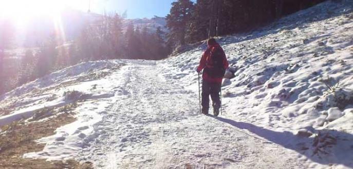 Uludağ'da dağcılık keyfi
