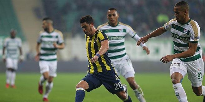 Bursaspor evinde Fenerbahçe galibiyetine hasret