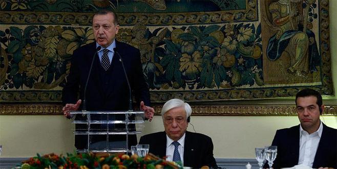 Cumhurbaşkanı Erdoğan Yunan gazetesine konuştu