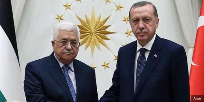 Cumhurbaşkanı Erdoğan ile Mahmud Abbas bir araya geldi