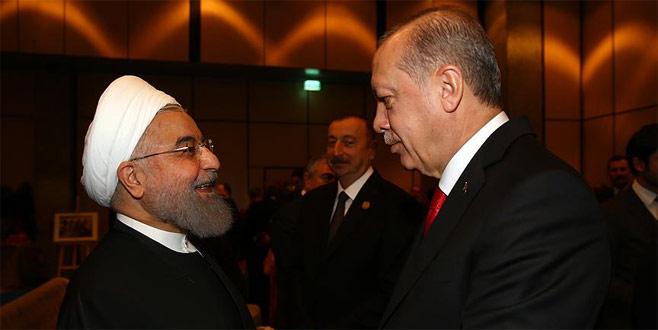 Cumhurbaşkanı Erdoğan Ruhani ile bir araya geldi