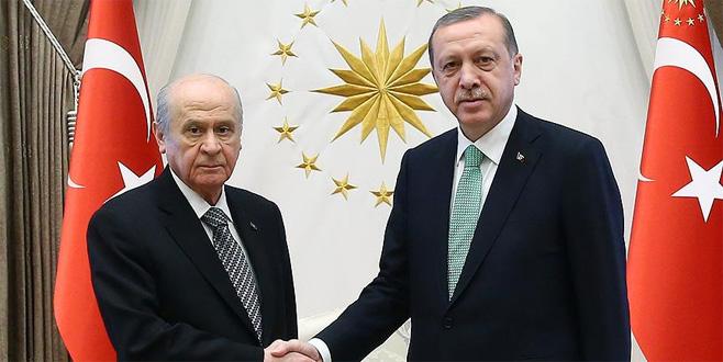 Erdoğan ve Bahçeli'den telefon görüşmesi