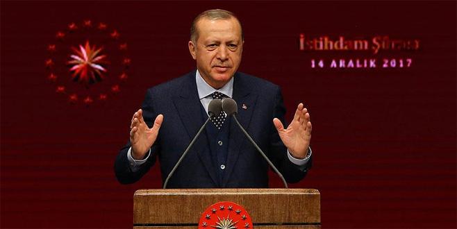 Erdoğan'dan artı 2 istihdam çağrısı