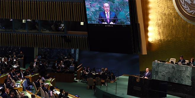 Dışişleri Bakanı Çavuşoğlu, BM Genel Kurulu'nda konuştu