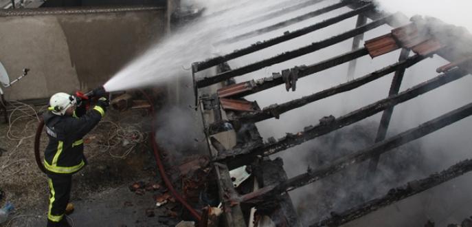 Bursa'da hayvan hastanesinde yangın paniği