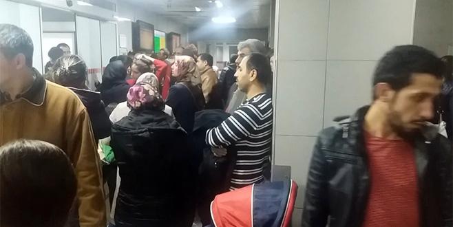 Bursa'da aciller çocuklarla doldu taştı
