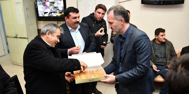 Başkan Taban'dan yeni yıl ziyaretleri