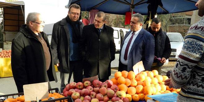 Tarım Müdürlüğü üretici pazarını denetledi