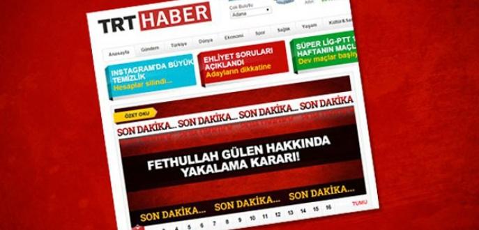 TRT'den Gülen bombası