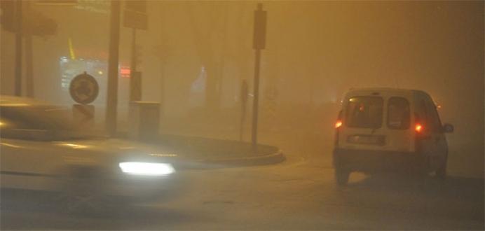 Sis, Bursa'da trafiği olumsuz etkiledi