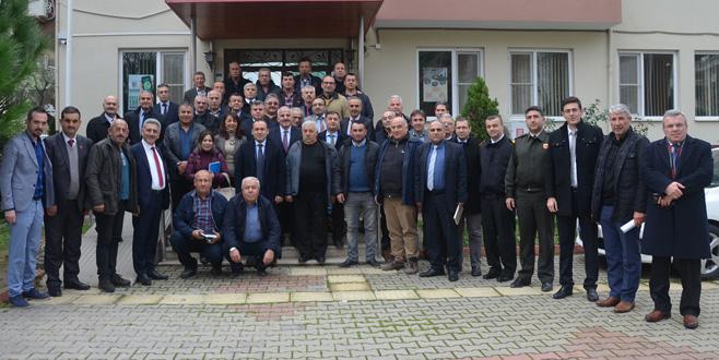 Mudanya'da muhtarlarla koordinasyon toplantısı