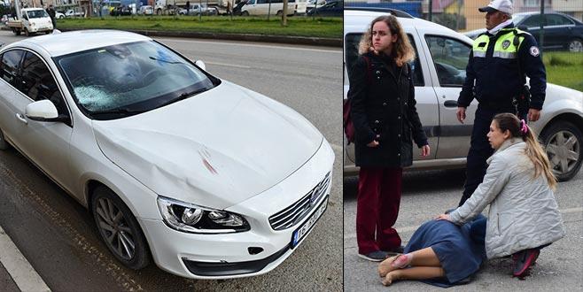 Bursa'da trafik kazası: Yaşlı kadın ağır yaralandı