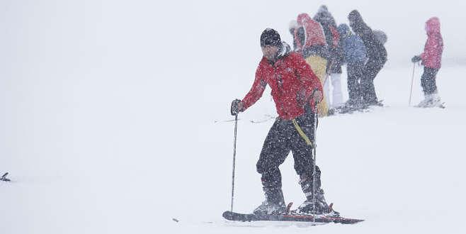 Uludağ'da kar kalınlığı 123 santimetre