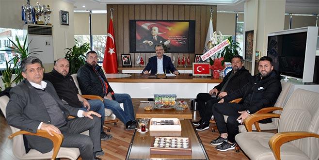 'Efsane'den Başkan Özkan'a ziyaret