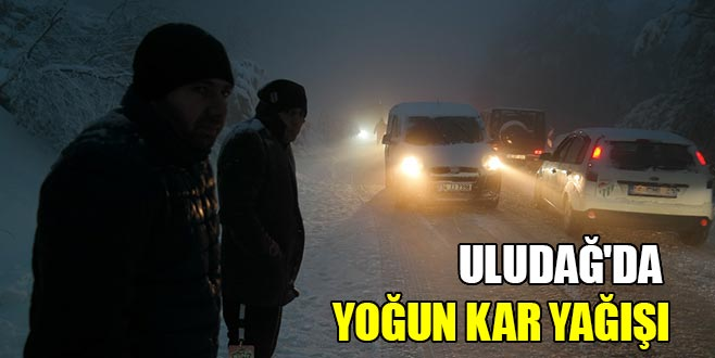 Uludağ'da yoğun kar yağışı