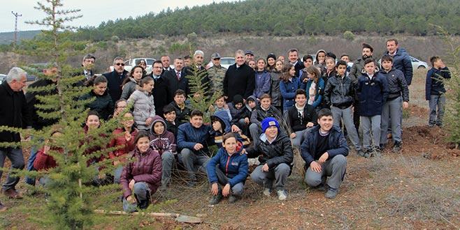 Yenişehir'de şehitler için hatıra ormanı