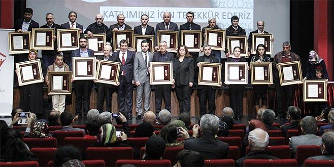 Bursa'da Devlet Övünç Madalyası töreni