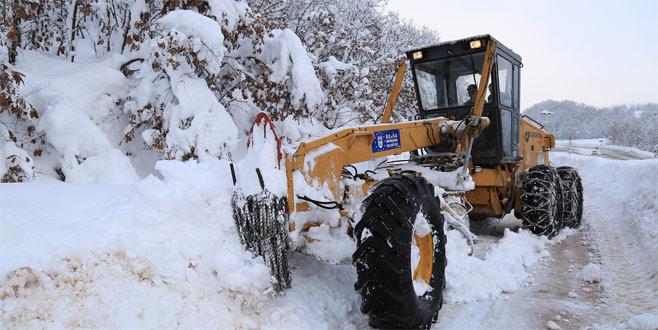 Bursa'da kapalı köy yolu yok