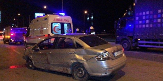 Bursa'da kaza: 1 ölü, 2 yaralı
