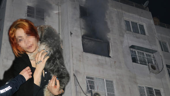Kendisinden ayrıldı diye öldüresiye dövüp evini yaktı!