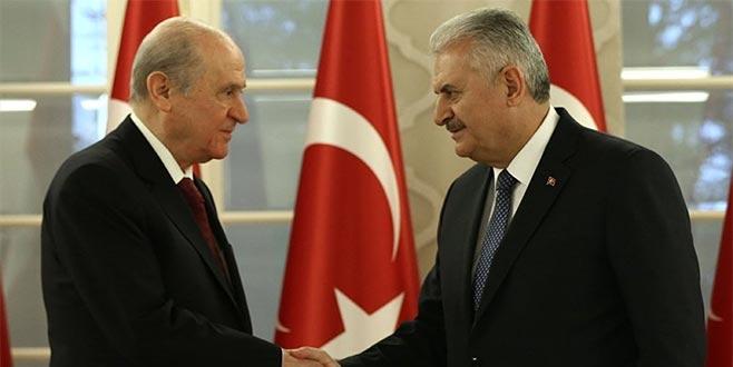 Başbakan Yıldırım ve MHP lideri Bahçeli'den ortak açıklama