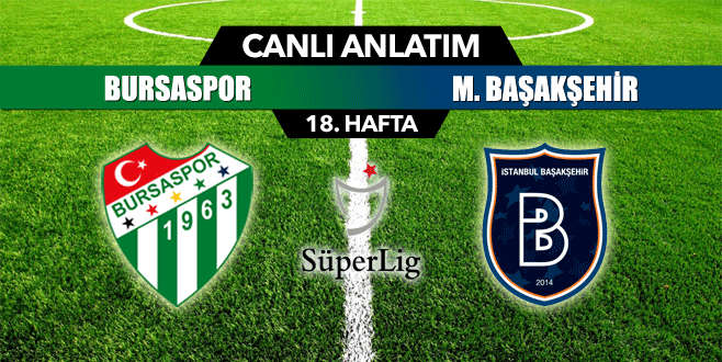 Bursaspor 0-2 M. Başakşehir (CANLI ANLATIM)