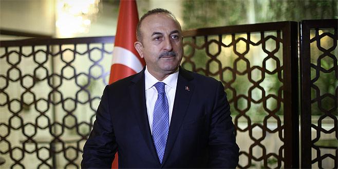 """Çavuşoğlu'ndan teröristlere """"canlı kalkan"""" tepkisi"""