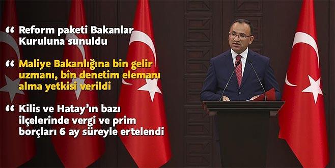 'Reform paketi Bakanlar Kuruluna sunuldu'