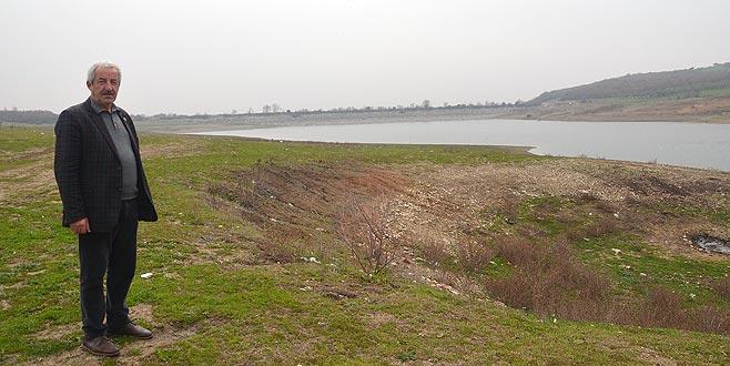 Mudanya göletlerinde su seviyesi düştü