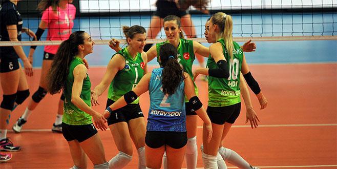 Bursa Büyükşehir Belediyespor yarı final yolunda
