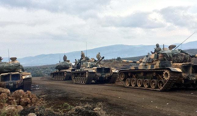 TSK ve ÖSO, Afrin'de teröristlerin Kilis'le sınır temasını kesti