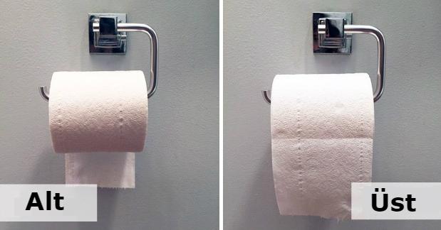 Tuvalet kağıdını nasıl astığınıza dikkat ettiniz mi? Tercihiniz karakterinizi ele veriyor!