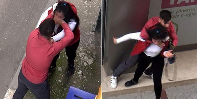 Genç kıza sokak ortasında şiddet