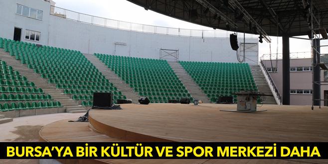 Bursa'ya bir kültür ve spor merkezi daha