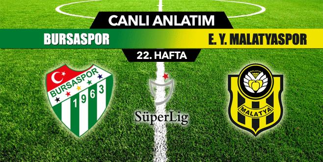 Bursaspor 0- 0 E. Y. Malatyaspor( Canlı Anlatım)