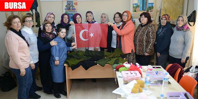 Mehmetçiklere Bursa'dan ısıtan hediye