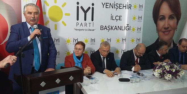 Yenişehir İYİ Parti'de başkan Doğan