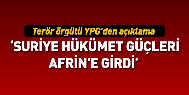 YPG: Suriye hükümet güçleri Afrin'e girdi