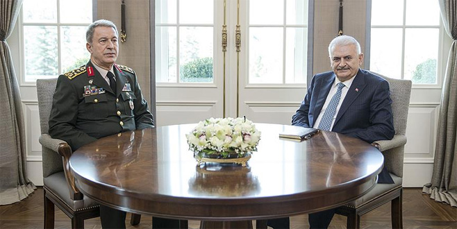 Başbakan Yıldırım Orgeneral Akar'ı kabul etti