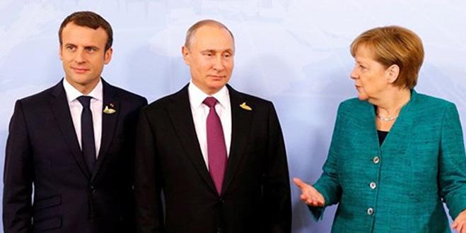 Putin, Merkel ve Macron görüştü