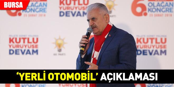 Başbakan Yıldırım'dan 'yerli otomobil' açıklaması