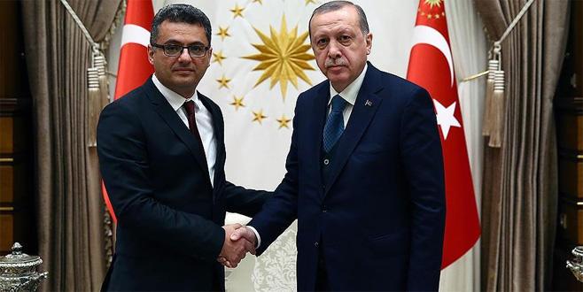 Cumhurbaşkanı Erdoğan, Erhürman'ı kabul etti