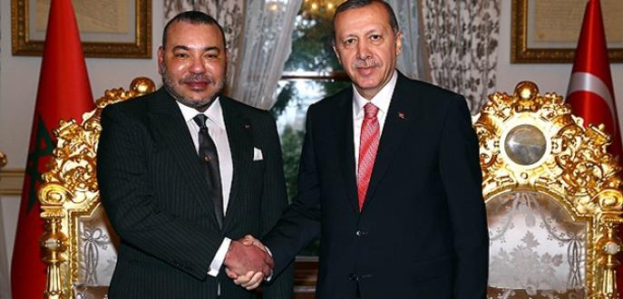 Erdoğan, Fas Kralı ile bir araya geldi