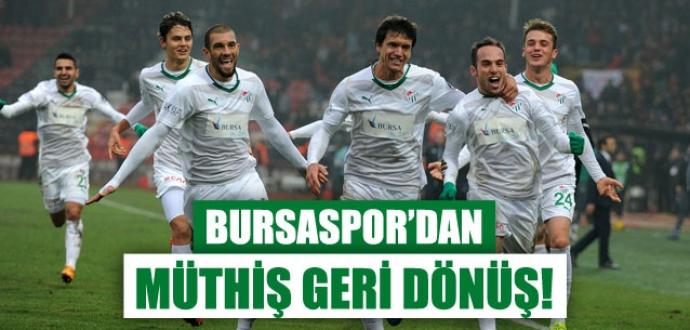 Bursaspor'dan müthiş geri dönüş!