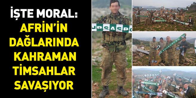 İşte moral: Afrin'in dağlarında kahraman Timsahlar savaşıyor