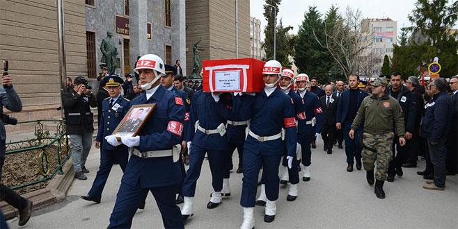 Şehit Binbaşı Mithat Dunca son yolculuğuna uğurlandı