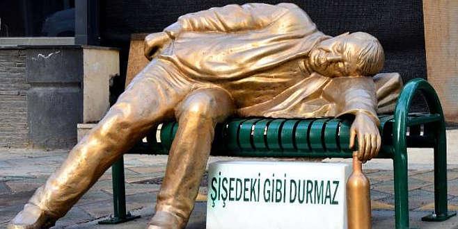 Eskişehir'de bir ilginç heykel daha